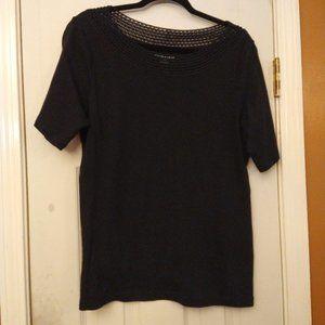 🆓 Croft & Barrow Black Short Sleeve Shirt 1X